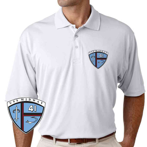 uss midway performance polo shirt