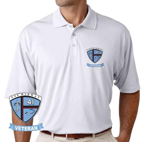uss midway veteran performance polo shirt