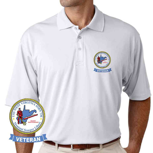 uss west virginia veteran performance polo shirt