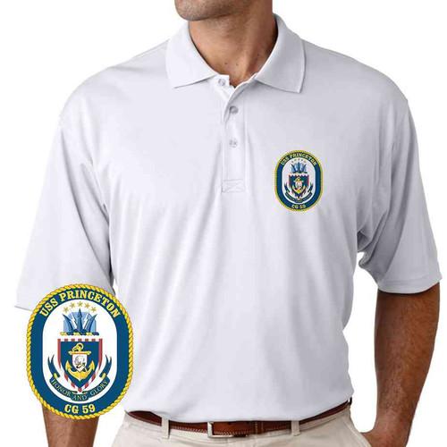 uss princeton performance polo shirt