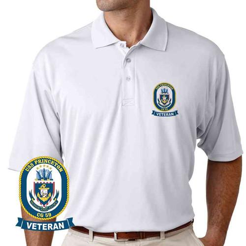 uss princeton veteran performance polo shirt