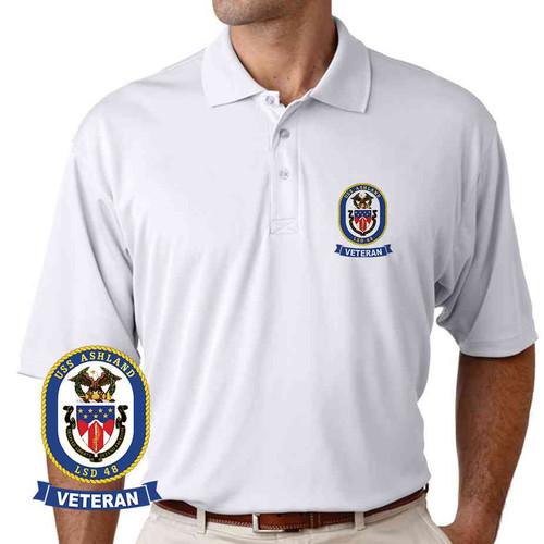 uss ashland veteran performance polo shirt