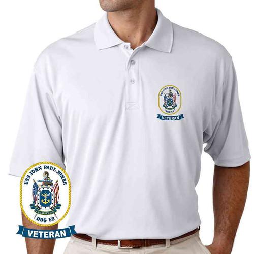 uss john paul jones veteran performance polo shirt