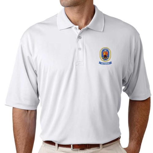 uss louisiana veteran performance polo shirt