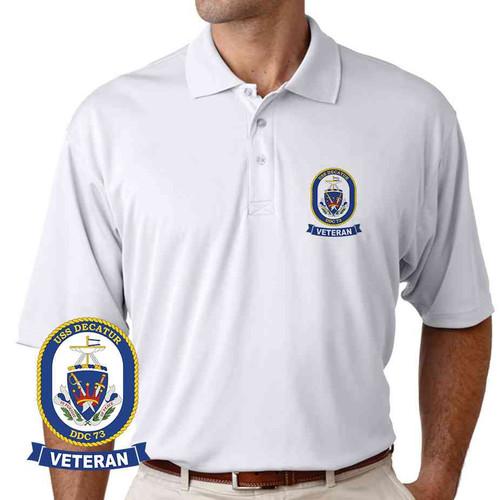 uss decatur veteran performance polo shirt