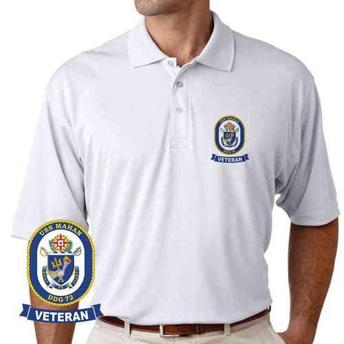 uss mahan veteran performance polo shirt