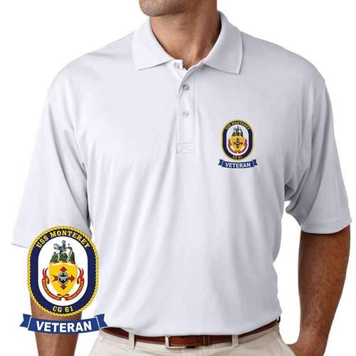 uss monterey veteran performance polo shirt