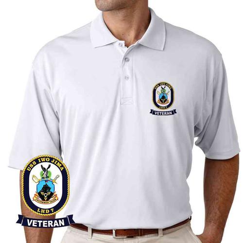 uss iwo jima veteran performance polo shirt