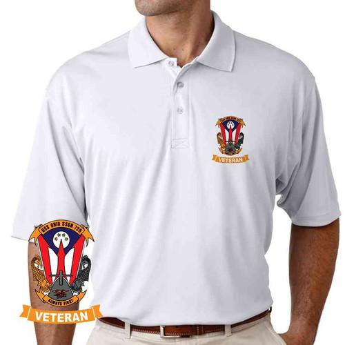 uss ohio veteran performance polo shirt