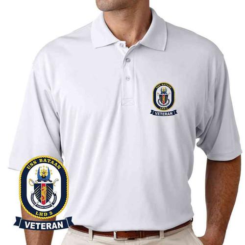 uss bataan veteran performance polo shirt
