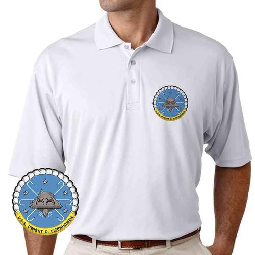 uss dwight d eisenhower performance polo shirt