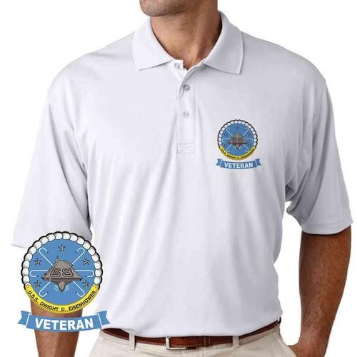 uss dwight d eisenhower veteran performance polo shirt