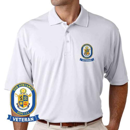 uss spruance veteran performance polo shirt