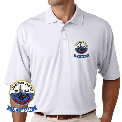 uss albany veteran performance polo shirt
