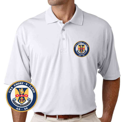 uss emory s land performance polo shirt