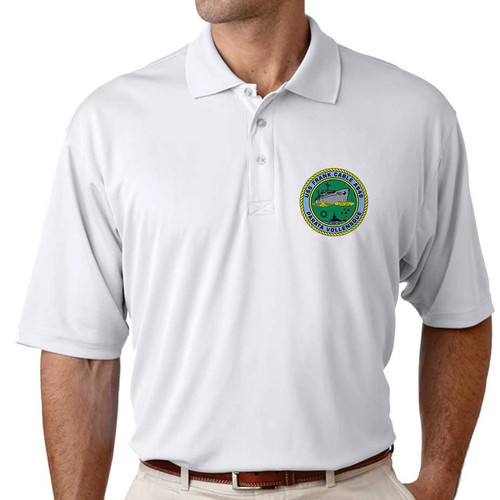 uss frank cable performance polo shirt