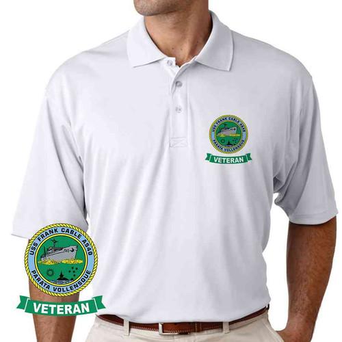uss frank cable veteran performance polo shirt