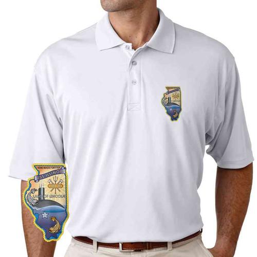 uss illinois performance polo shirt