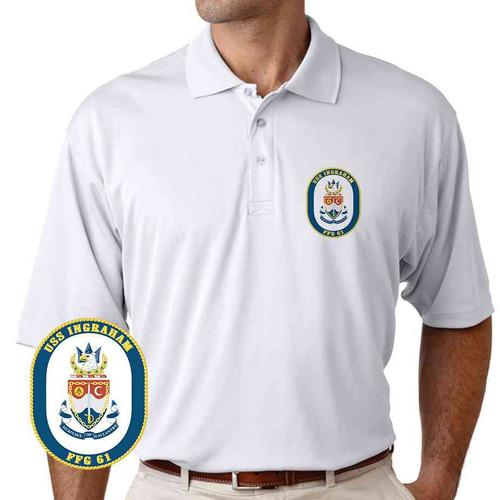 uss ingraham performance polo shirt