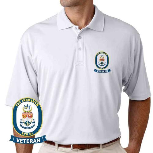 uss ingraham veteran performance polo shirt