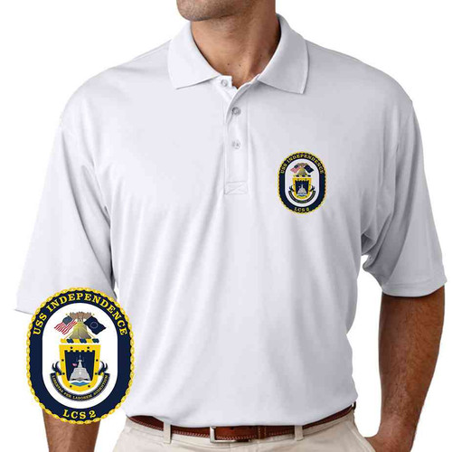 uss independence performance polo shirt
