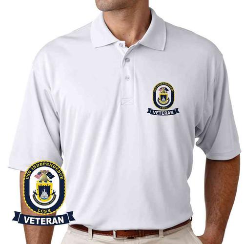 uss independence veteran performance polo shirt