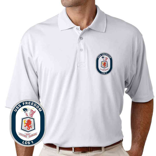 uss freedom performance polo shirt