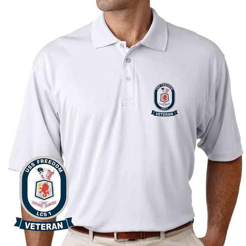 uss freedom veteran performance polo shirt