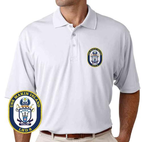uss makin island performance polo shirt