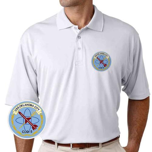 uss oklahoma city performance polo shirt