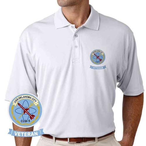 uss oklahoma city veteran performance polo shirt