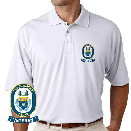 uss rushmore veteran performance polo shirt