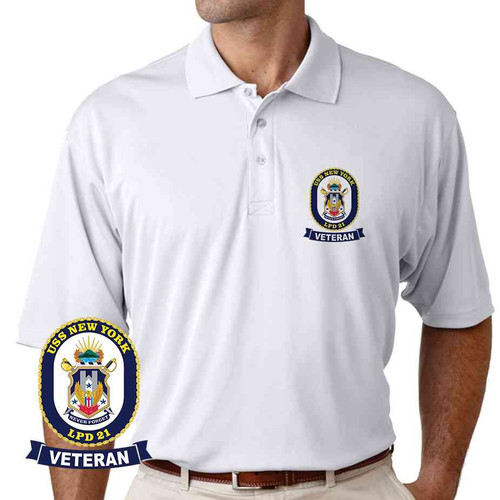 uss new york veteran performance polo shirt