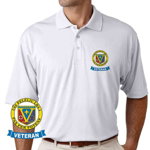 uss peleliu veteran performance polo shirt