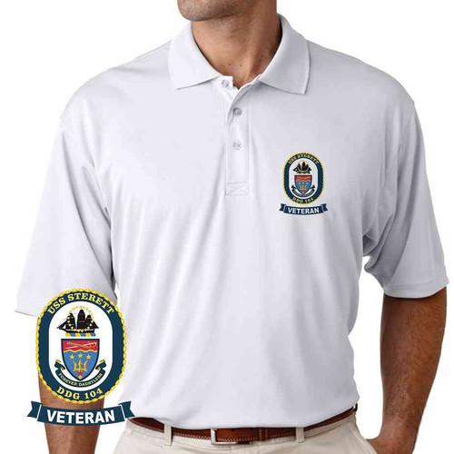 uss sterett veteran performance polo shirt