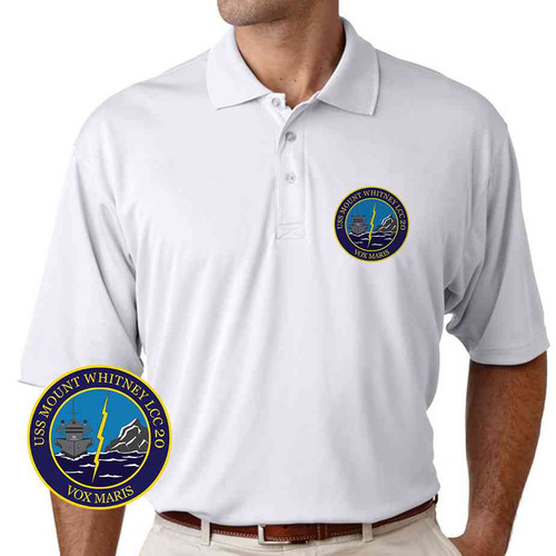 uss mount whitney performance polo shirt