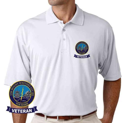 uss mount whitney veteran performance polo shirt