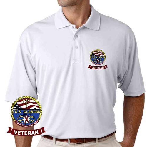 uss alabama veteran performance polo shirt