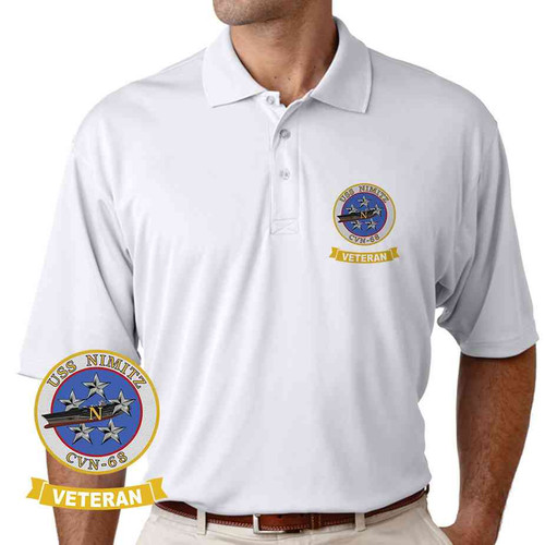 uss nimitz veteran performance polo shirt