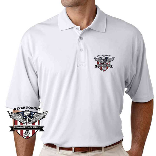never forget memorial day performance polo shirt