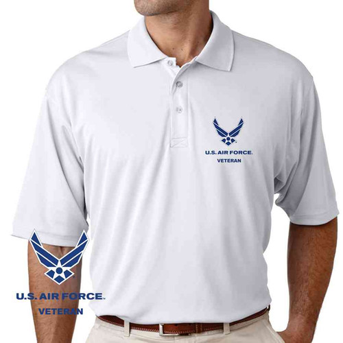 officially licensed u s air force veteran performance polo shirt