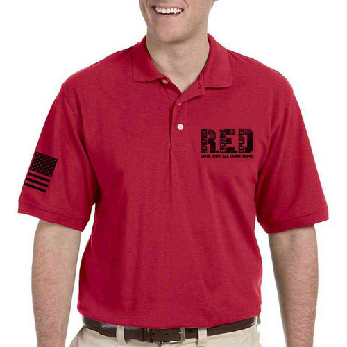 red friday until they all come home performance polo shirt