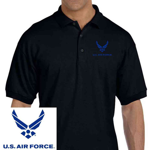 officially licensed u s air force embroidered polo