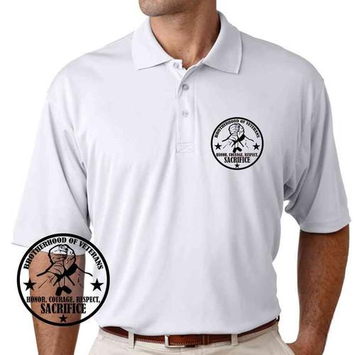 brotherhood veterans special edition performance polo shirt