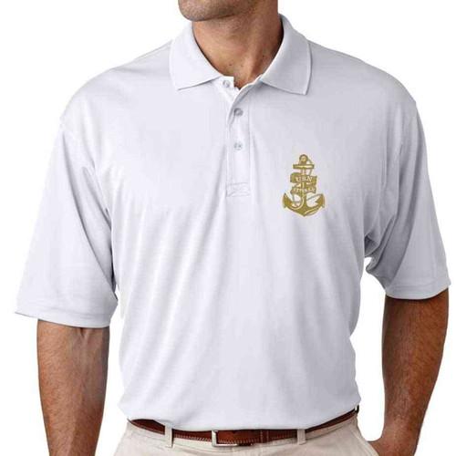 usn veteran performance polo shirt gold anchor