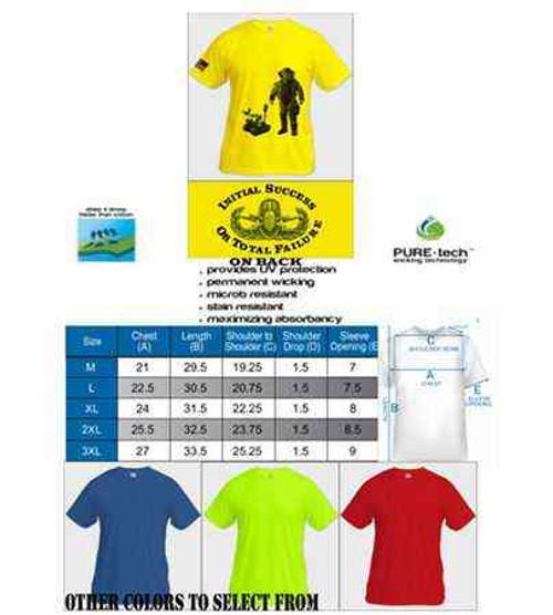 eod tshirt initial success logo flag