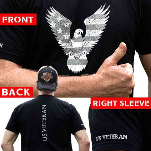 us veteran tshirt eagle