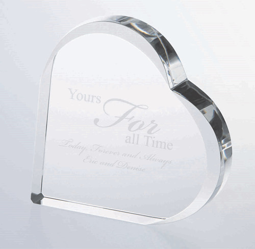 This freestanding heart plaque is fitting for the caring and compassionate, this is a perfect award for someone in the medical or teaching field . The eye catching piece is a perfect gift to engrave a special quote, promotion, or even a picture for your loved ones and friends.