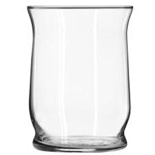 "6"" x 4.6"" Decorative Hurricane Glass Vase Clear"