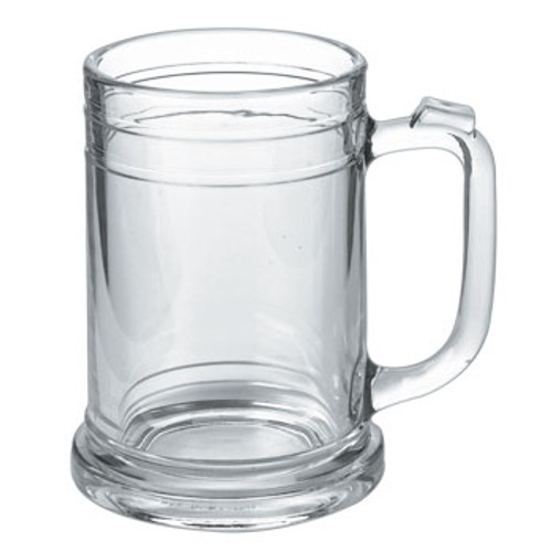 The 15 oz. Koblenz Maritime Glass Tankard Mug is a great choice for your favorite beverage! This stein inspired whole glass mug has grooves top and bottom and a detailed base. The Koblenz Maritime large beer mug also has a thumbprint for a comfortable grip. Looking for a very traditional styled beer glass in a generous size with room for plenty of beer and head?..Then this is the glass beer mug for you!